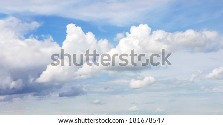 Clouds in blue sky - stock photo
