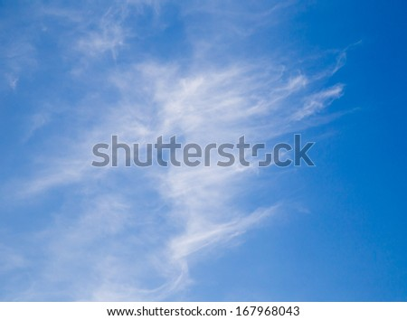 clouds in the blue sky as the background - stock photo