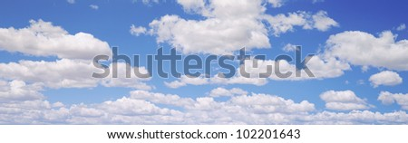 Clouds in the sky - stock photo