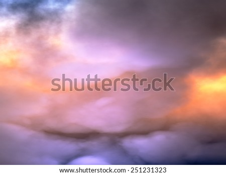 Clouds of Heaven, dramatic sky - stock photo