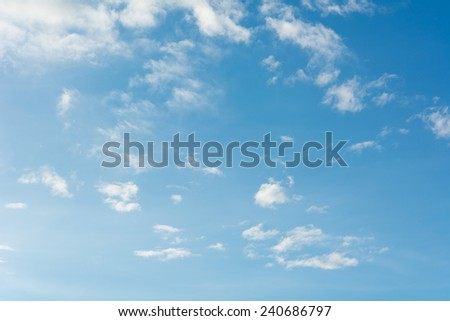 clouds on a blue sky. - stock photo