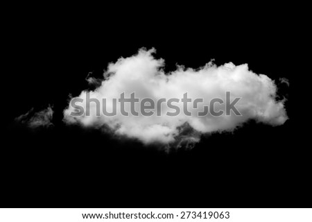 clouds on black background - stock photo