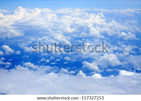 Clouds on blue sky. - stock photo