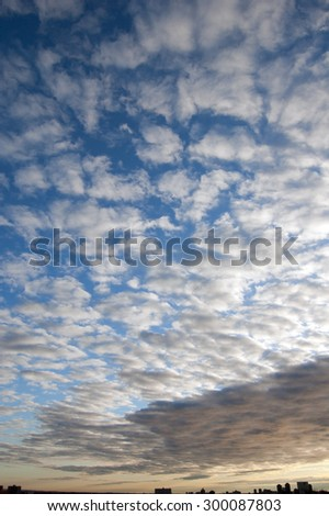 Clouds on sky above Toronto at the morning - stock photo