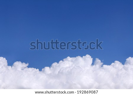 Clouds on the blue sky as seamless pattern - stock photo