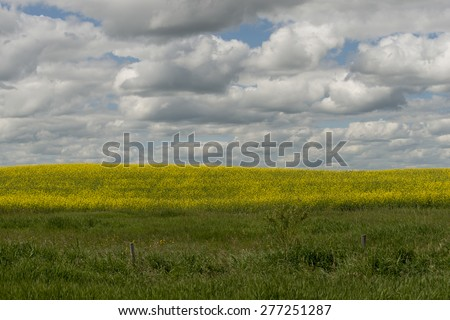 Clouds over a prairie landscape, Lake Audy Campground, Riding Mountain National Park, Manitoba, Canada - stock photo