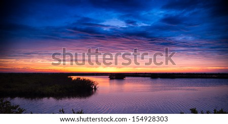 Clouds over Atlantic ocean, Merritt Island, Titusville, Brevard County, Florida, USA - stock photo