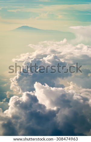 Clouds over Java, Indonesia - stock photo