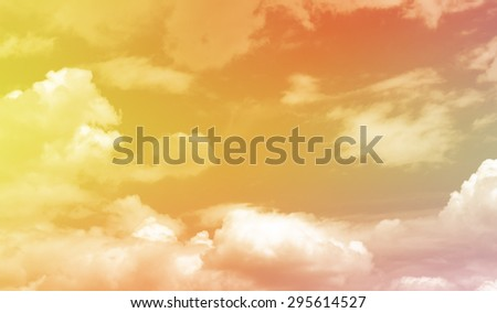 Clouds with a colorful gradient - stock photo