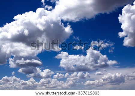 Clouds with Blue Skies in the background - stock photo