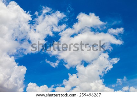 Clouds with blue sky for background - stock photo