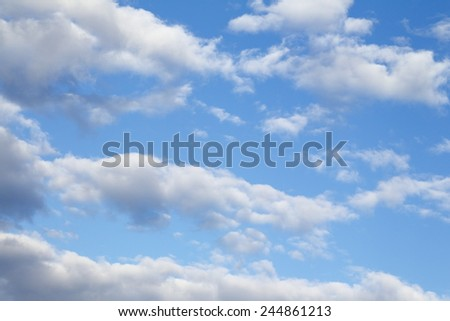 Clouds with Blue Sky The Heavens - stock photo