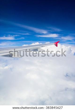 Cloudscape Around Heavenly Scene  - stock photo