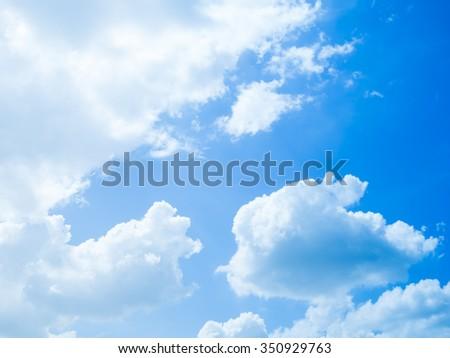 cloudscape blue sky on sunny day - stock photo