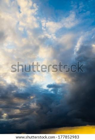 Cloudscape Divine Shining Day  - stock photo