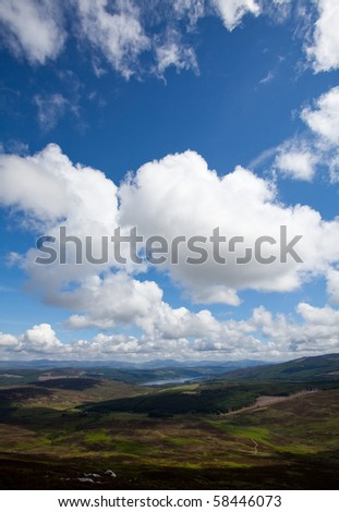 Cloudscape over the highlands - stock photo
