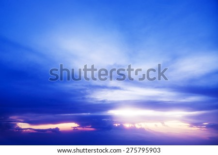 Cloudscape sunset time - stock photo