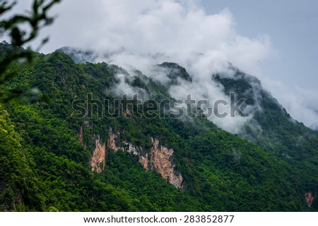 Cloudy appalachian big mountains, best natural at Chingmai in Thailand - stock photo