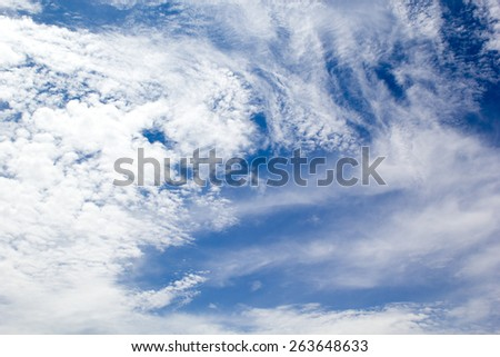 Cloudy Blue sky background - stock photo