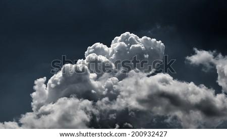 Cloudy dark sky background - stock photo