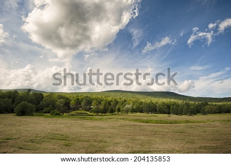 Cloudy day in New Hampshire - stock photo