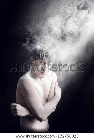 cloudy guy - stock photo