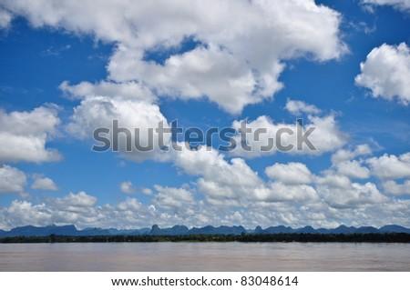 cloudy on sky - stock photo