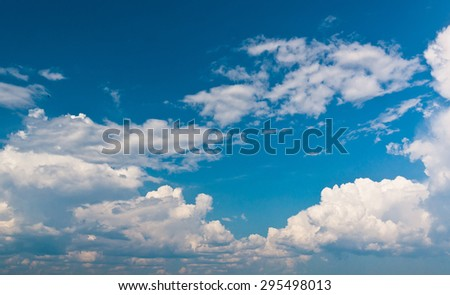 Cloudy Outdoor Clean Air  - stock photo