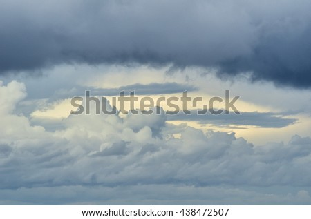 cloudy sky with amazing colors in spring - stock photo