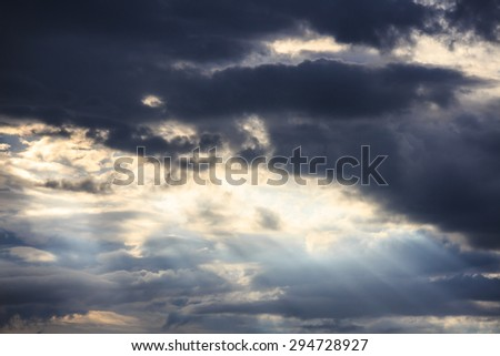cloudy storm - stock photo