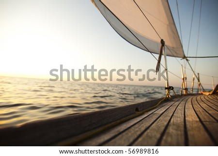 Clous up Sailing - stock photo