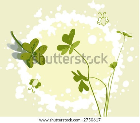 clover illustration - stock photo