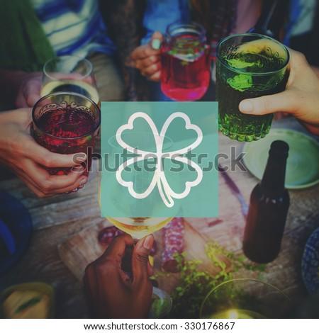 Clover Leaf Saint Patrick's Day Ireland Lucky Irish Culture Concept - stock photo