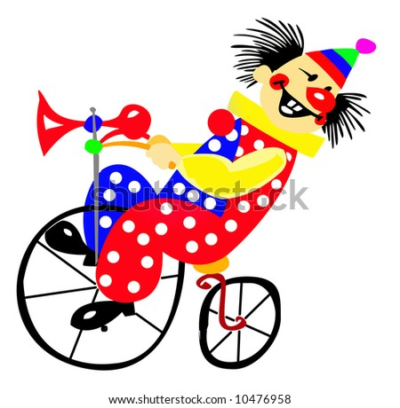 clown in circus - stock photo