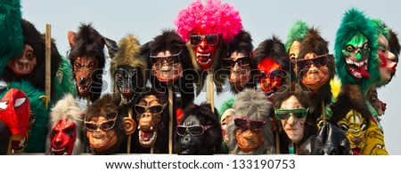 Clown mask. - stock photo
