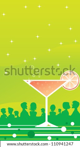 Clubbing - Martini Time - stock photo