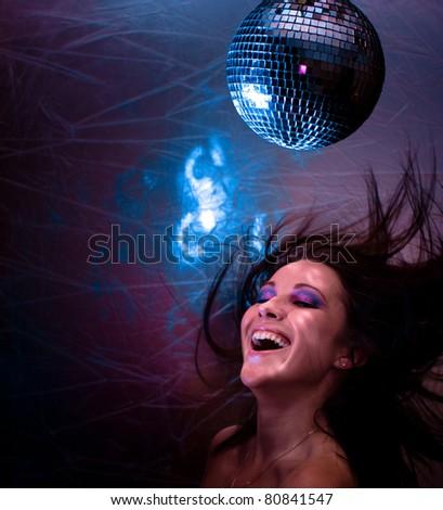 Clubbing Smiling Glamor - stock photo