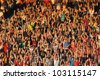 CLUJ NAPOCA, ROMANIA  MAY 20: FC CFR Cluj team happy supporters, after CFR won the Romanian Championship against Steaua Bucharest on May 20, 2012 in Cluj Napoca, Romania - stock photo