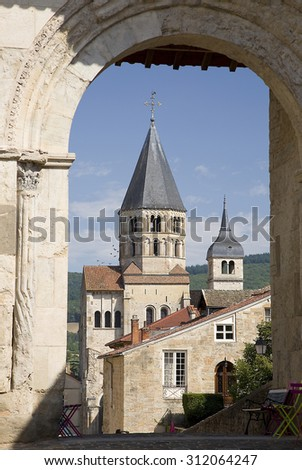 Cluny Abbey, Burgundy, France. - stock photo