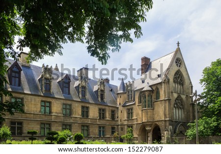 Cluny Museum of the Middle Ages, Paris - stock photo