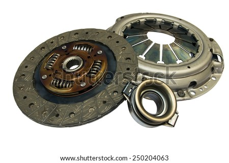 Clutch kit car on a white background - stock photo