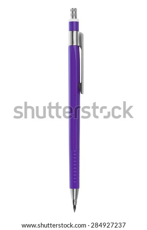 Clutch-type pencil isolated on white background - stock photo