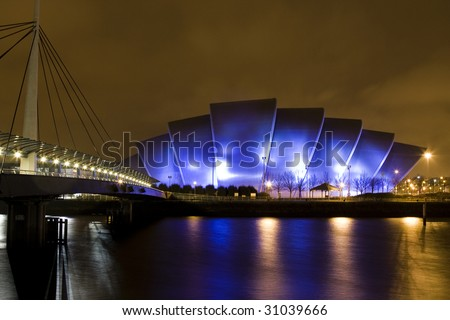 Clyde Auditorium also know as The Armadillo - stock photo