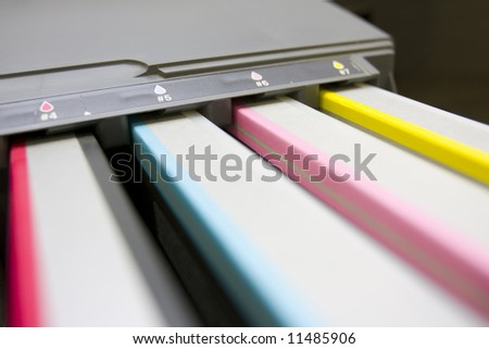 cmyk bubblejets - stock photo