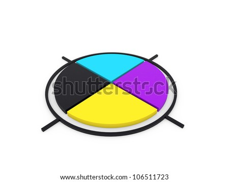CMYK colors - stock photo