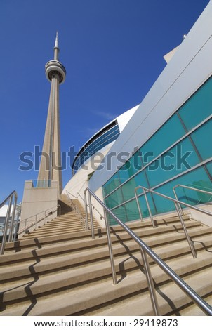 CN Tower in downtown Toronto - stock photo