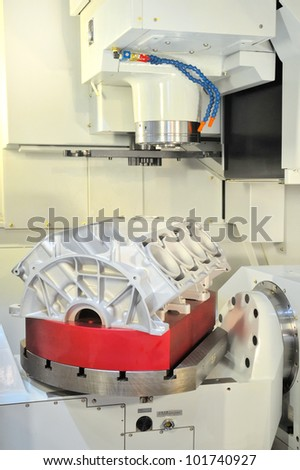 CNC-milling - stock photo