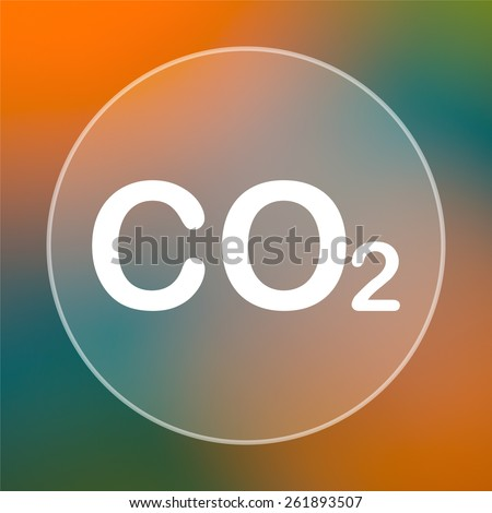 CO2 icon. Internet button on colored  background.  - stock photo