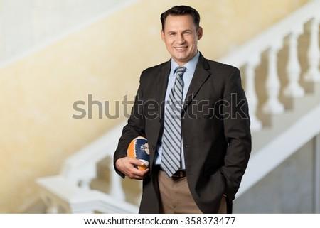 Coach. - stock photo