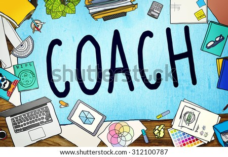 Coach Coaching Guide Instructor Leader Manager Tutor Concept - stock photo